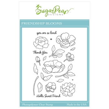 SugarPea Designs FRIENDSHIP BLOOMS Clear Stamp Set spd00501