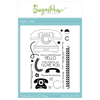 SugarPea Designs CALL ME Clear Stamp Set spd00498