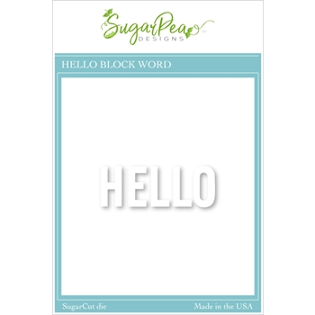 SugarPea Designs HELLO BLOCK WORD SugarCuts Dies spd00497