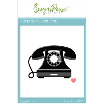 SugarPea Designs VINTAGE TELEPHONE SugarCuts Dies spd00496