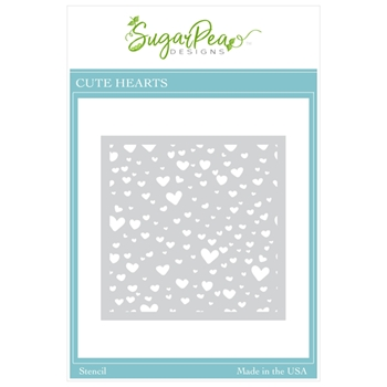 SugarPea Designs CUTE HEARTS Stencil spd00494