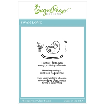 SugarPea Designs SWAN LOVE Clear Stamp Set spd00492