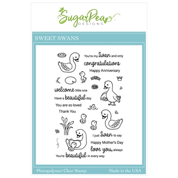 SugarPea Designs SWEET SWANS Clear Stamp Set spd00490