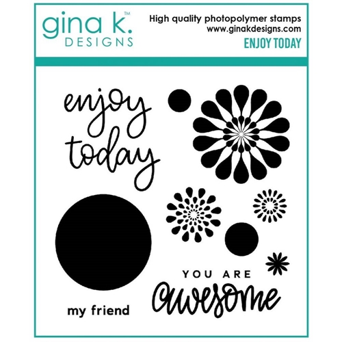 Gina K Designs ENJOY TODAY Clear Stamps 7054 Preview Image