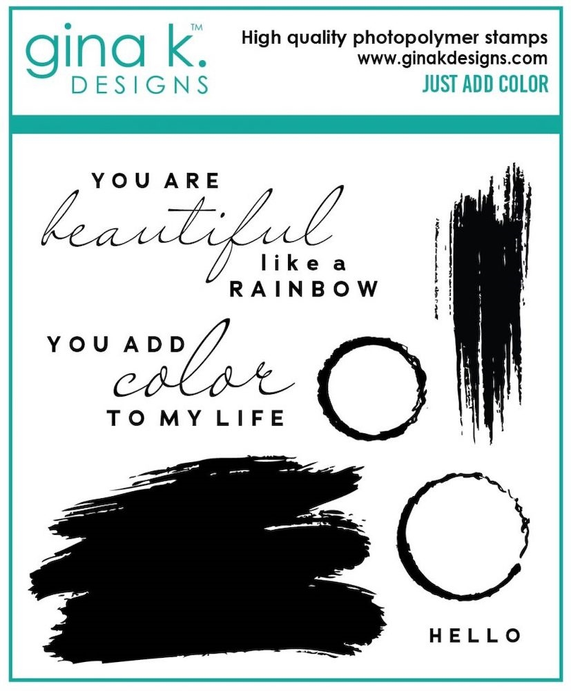 Gina K Designs JUST ADD COLOR Clear Stamps 7047 zoom image