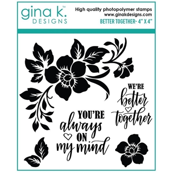 Gina K Designs BETTER TOGETHER Clear Stamps 7306