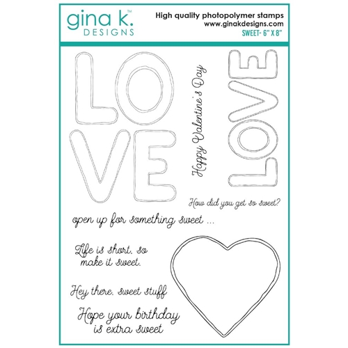 Gina K Designs SWEET Clear Stamps 7474 Preview Image