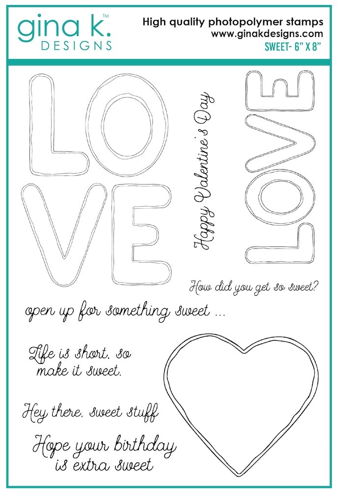 Gina K Designs SWEET Clear Stamps 7474 zoom image