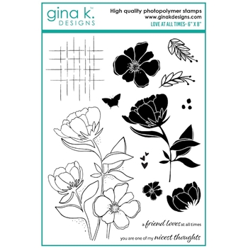 Gina K Designs LOVE AT ALL TIMES Clear Stamps 7450