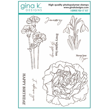 Gina K Designs I ADMIRE YOU Clear Stamps 7436