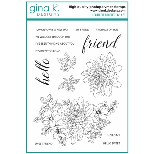 Gina K Designs HEARTFELT BOUQUET Clear Stamps 7412 Preview Image