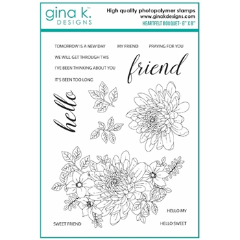 Gina K Designs HEARTFELT BOUQUET Clear Stamps 7412