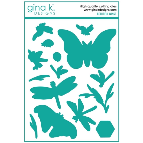 Gina K Designs BEAUTIFUL WINGS Coordinating Die Set 7405 Preview Image