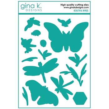 Gina K Designs BEAUTIFUL WINGS Coordinating Die Set 7405