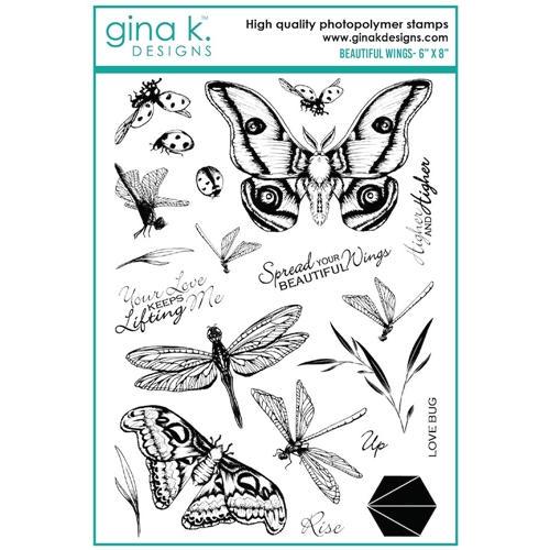 Gina K Designs BEAUTIFUL WINGS Clear Stamps 7399 Preview Image