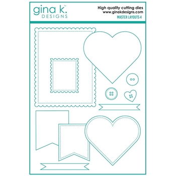 Gina K Designs MASTER LAYOUTS 4 Die Set 7382