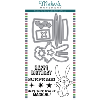 Maker's Movement MAGICAL DAY Stamp And Die Set m12135*