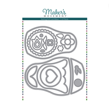 Maker's Movement NESTING DOLL CARD MAKER Die Set m12227