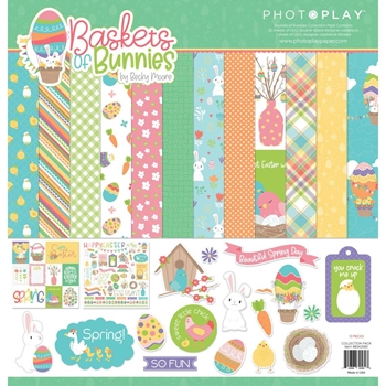 PhotoPlay BASKETS OF BUNNIES 12 x 12 Collection Pack bsk2580
