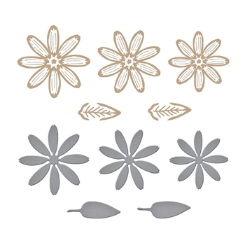 GLP 248 Spellbinders DAISY Glimmer Hot Foil Plate and Die Cuts