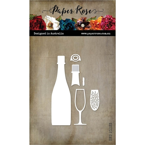 Paper Rose CHAMPAGNE Dies 21033 Preview Image