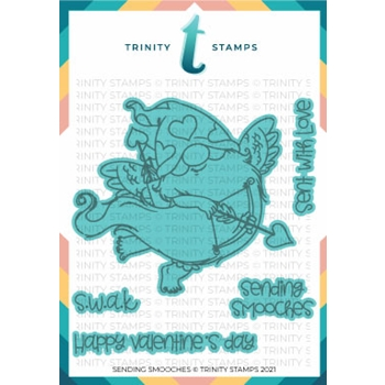 Trinity Stamps SENDING SMOOCHES Die Set tmdc104