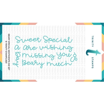 Trinity Stamps BEARY SPECIAL SENTIMENTS Die Set tmd065