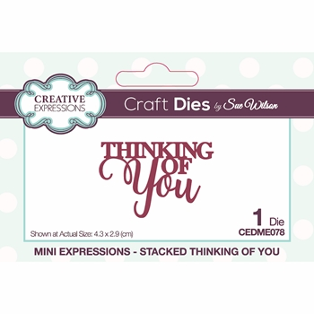 Creative Expressions STACKED THINKING OF YOU Sue Wilson Mini Expressions Die cedme078