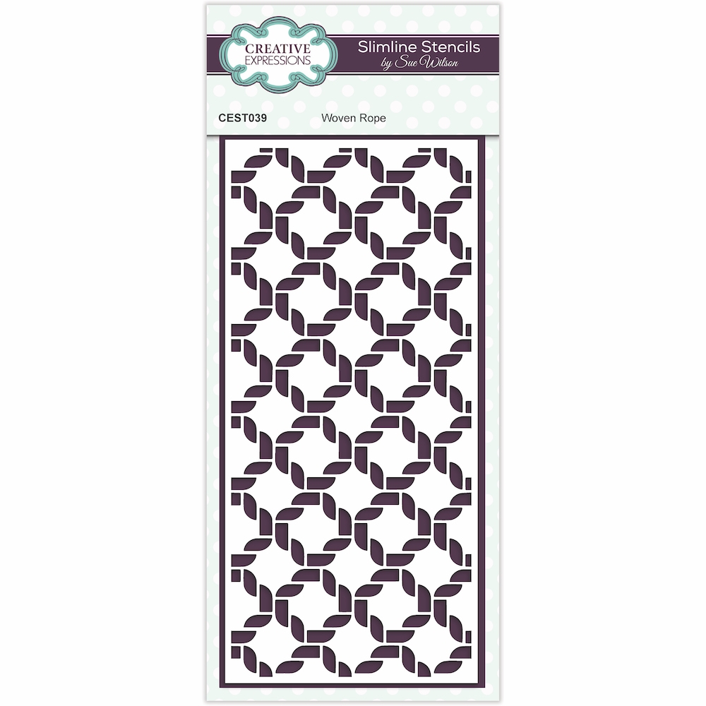 Creative Expressions WOVEN ROPE Sue Wilson Slimline Stencil cest039 zoom image