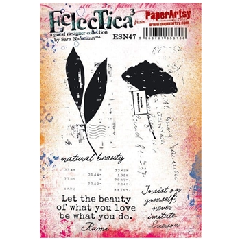 Paper Artsy SARA NAUMANN ECLECTICA3 47 Cling Stamps esn47*