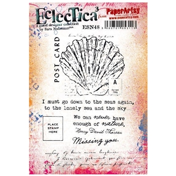 Paper Artsy SARA NAUMANN ECLECTICA3 48 Cling Stamps esn48