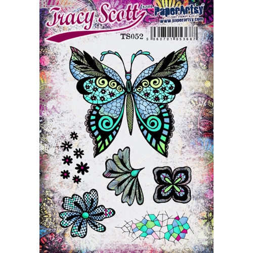 Paper Artsy TRACY SCOTT 52 Cling Stamp ts052 Preview Image