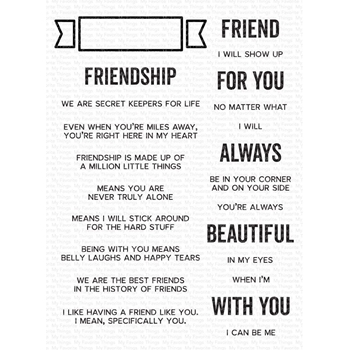 My Favorite Things WHAT FRIENDSHIP MEANS Clear Stamps cs543*