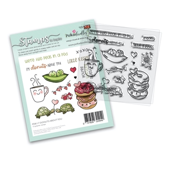 Polkadoodles DONUTS ABOUT YOU Clear Stamps pd8117 *