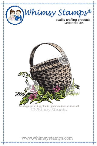 Whimsy Stamps BASKET Cling Stamp DA1156 zoom image