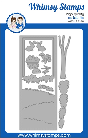 Whimsy Stamps SLIMLINE MEADOW Dies WSD518 Preview Image
