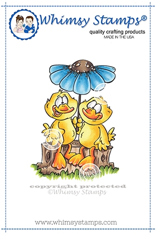 Whimsy Stamps DUCK COUPLE Cling Stamp DP1060 zoom image