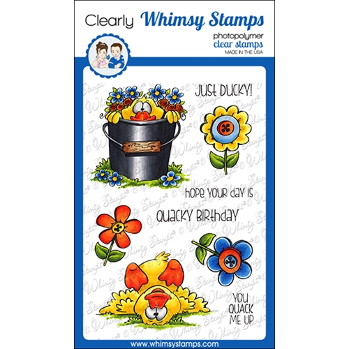 Whims Stamps LUCKY DUCK Clear Stamps DP1059 Preview Image