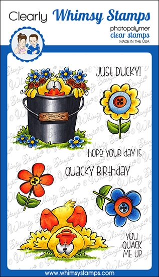 Whims Stamps LUCKY DUCK Clear Stamps DP1059 zoom image