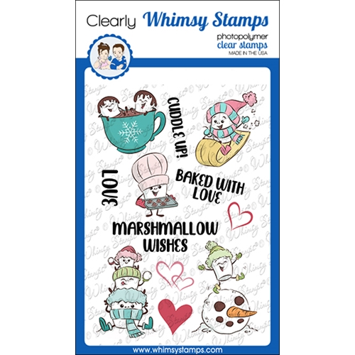 Whimsy Stamps MARSHMALLOW WISHES Clear Stamps KHB174a Preview Image