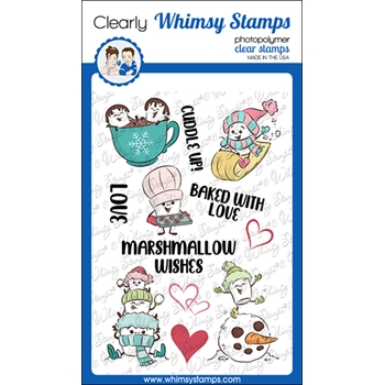 Whimsy Stamps MARSHMALLOW WISHES Clear Stamps KHB174a