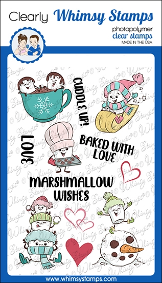 Whimsy Stamps MARSHMALLOW WISHES Clear Stamps KHB174a zoom image