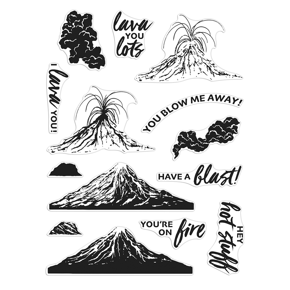 Hero Arts Clear Stamps VOLCANO HEROSCAPE CM514 zoom image