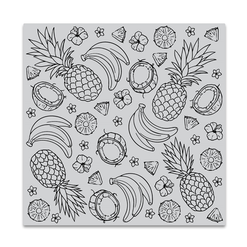 Hero Arts Cling Stamp ISLAND FRUITS BOLD PRINTS CG837 Preview Image