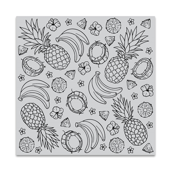 Hero Arts Cling Stamp ISLAND FRUITS BOLD PRINTS CG837