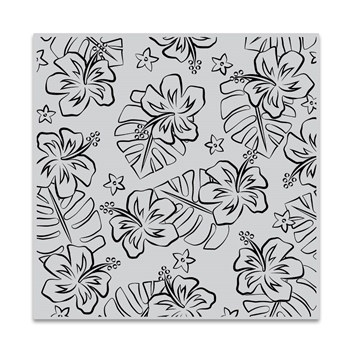 Hero Arts Cling Stamp HIBISCUS FLOWERS BOLD PRINTS CG836