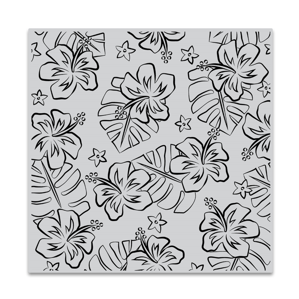 Hero Arts Cling Stamp HIBISCUS FLOWERS BOLD PRINTS CG836 zoom image