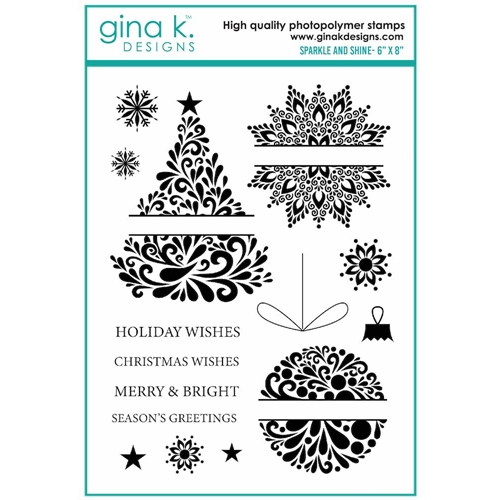 Gina K Designs SPARKLE AND SHINE Clear Stamps 7122 Preview Image
