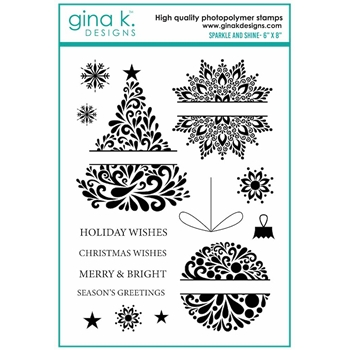 Gina K Designs SPARKLE AND SHINE Clear Stamps 7122