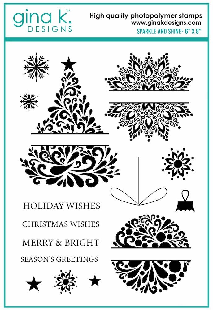 Gina K Designs SPARKLE AND SHINE Clear Stamps 7122 zoom image